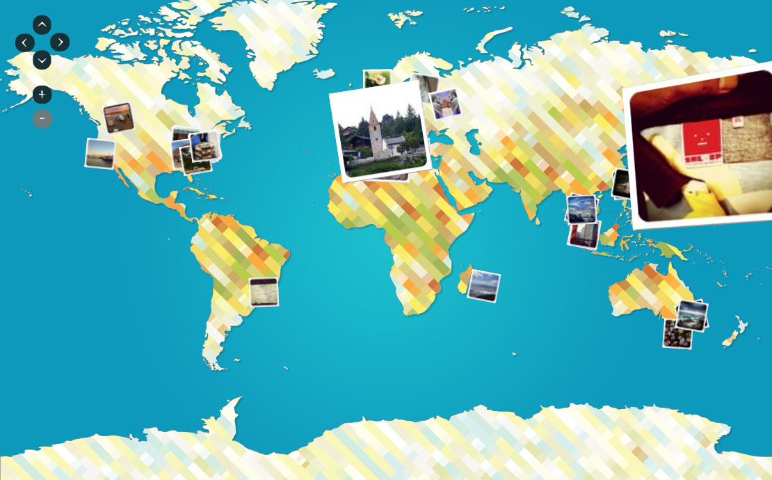 Flickr picture map